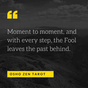 Moment to moment, and with every step, the